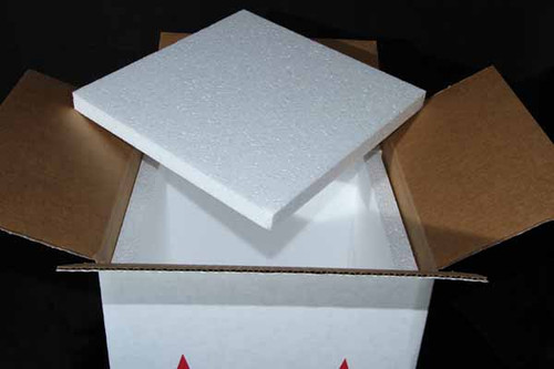 """10x10x10 Insulated Shipping Box with 3/4"""" Foam 7 Pack"""