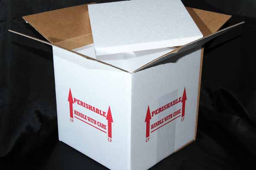 "10x10x10 Insulated Shipping Box with 3/4"" Foam 21 Pack"