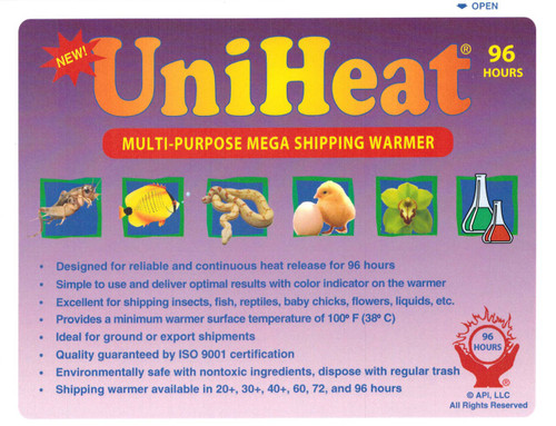 80 Pack 96 Hour MEGA Shipping Warmer.