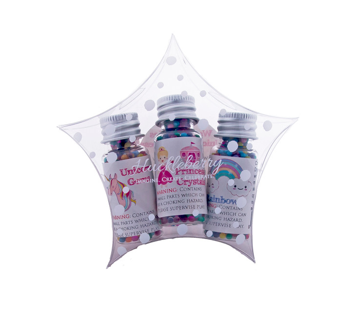 Water Marbles Trio Stars - Princess Crystals Trio (Over 40g of water marbles per star!)