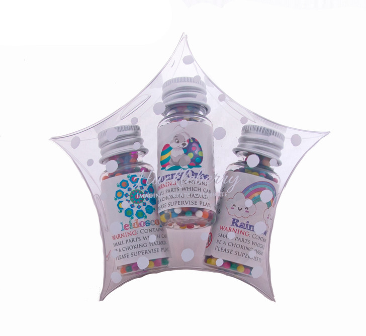 Water Marbles Trio Stars - Bunny Trio (Over 40g of water marbles per star!)