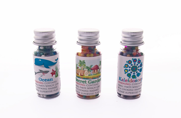 Water Marbles Trio Stars - Nature Trio (Over 40g of water marbles per star!)