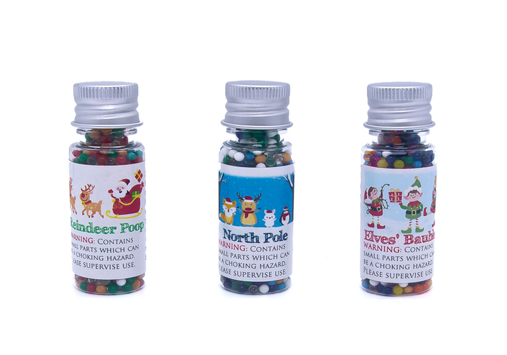 Water Marbles Trio Star - Christmas Trio (Over 40g of water marbles per star!)