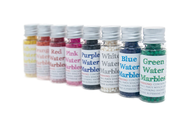 Water Marbles - 1 bottle - single colours (Approx 13g per bottle!)