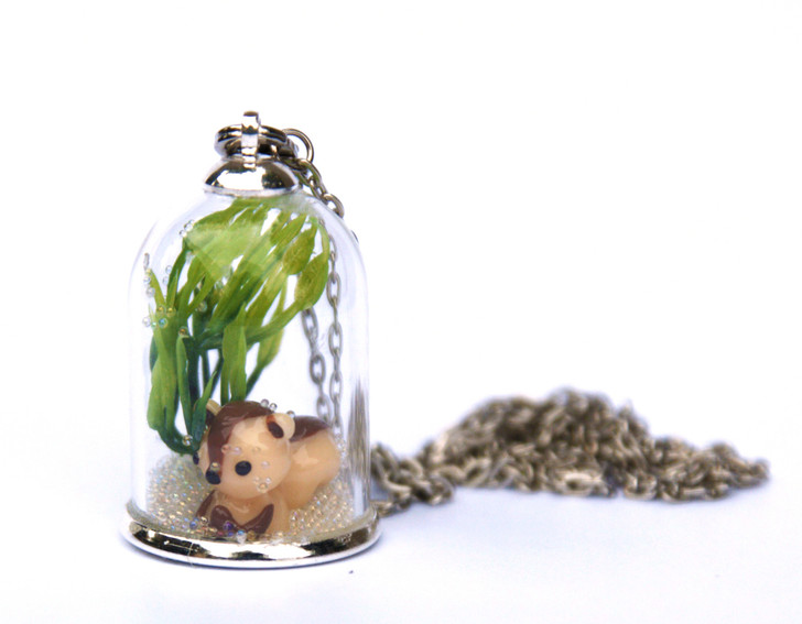 Make Your Own Woodland Pendant - Squirrel (Brown)