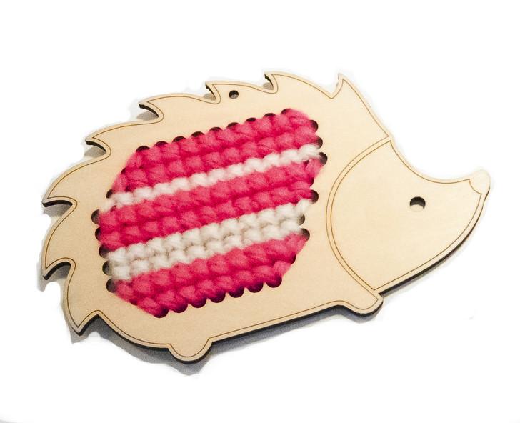 Wooden Cross Stitch Kit (Harriet Hedgehog)