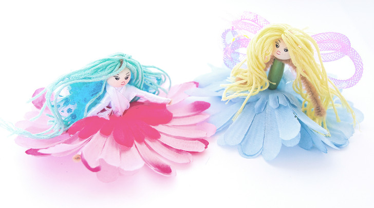 Make Your Flower Fairies - Blue & Pink