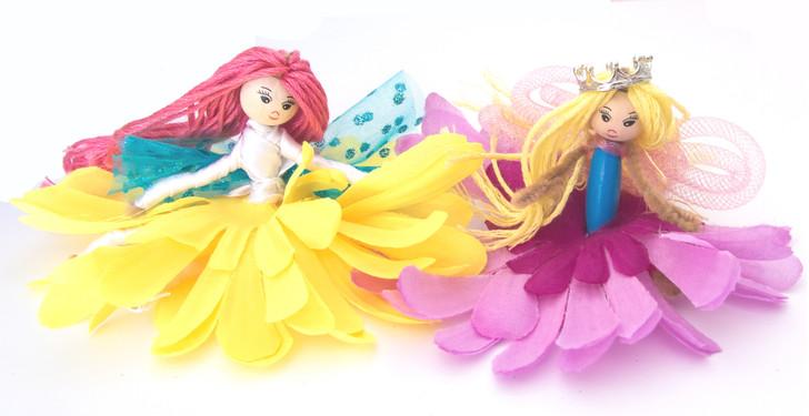 Make Your Flower Fairies - Purple & Yellow