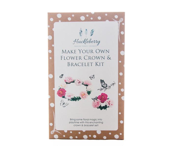Make Your Own Flower Crown & Bracelet Set - Pink