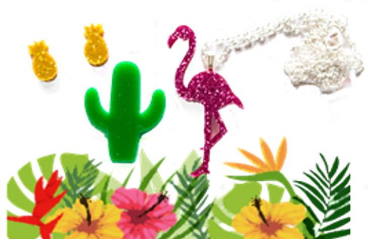 Make Your Own Pop Jewellery Kit - Flamingo a go go
