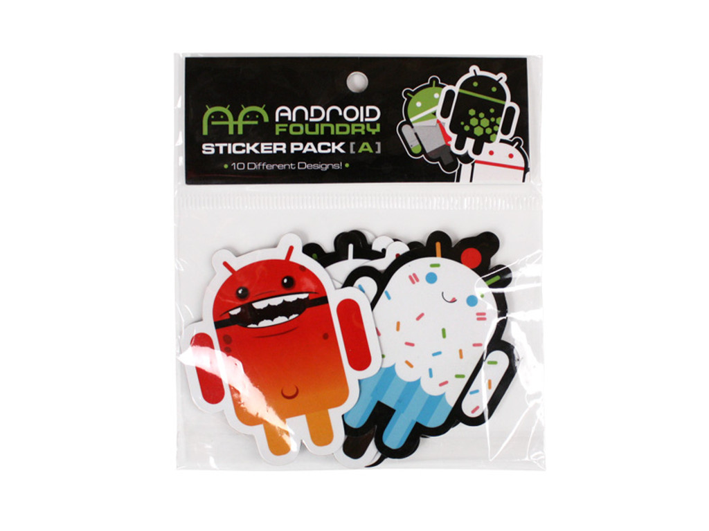 ANDROID FOUNDRY STICKER 10 PACK A