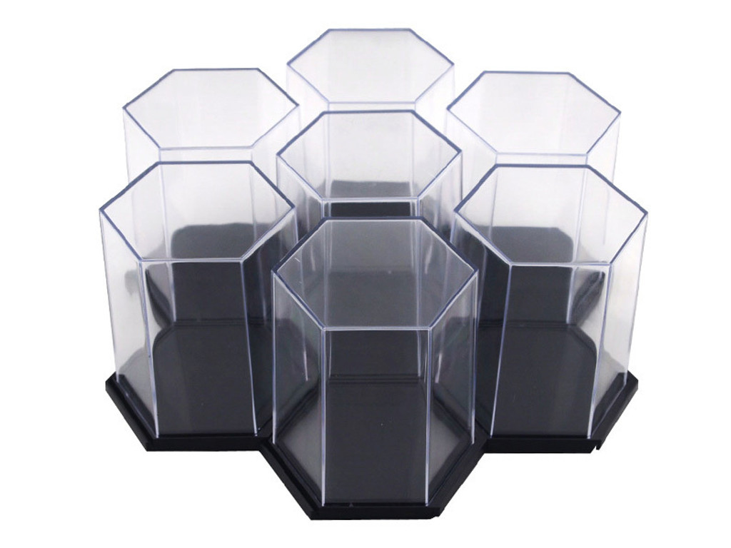 Display Case - Hexagon Black Single