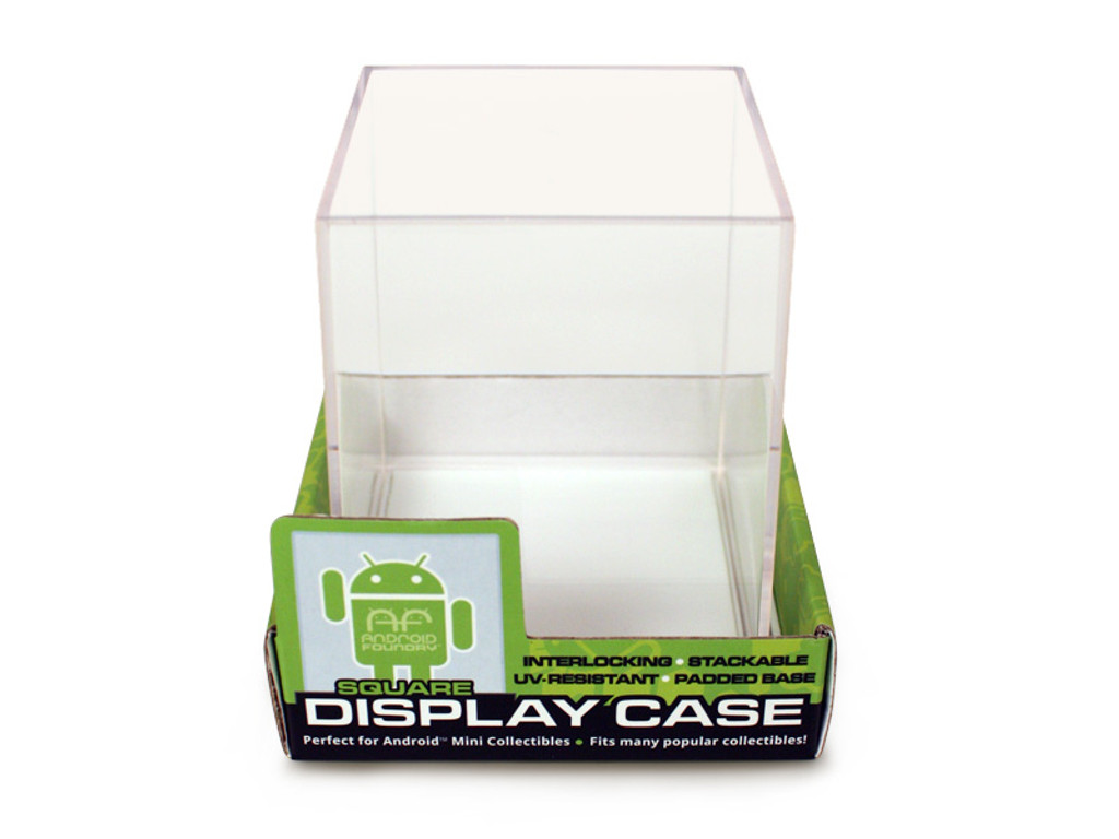 Display Case - Square White Single