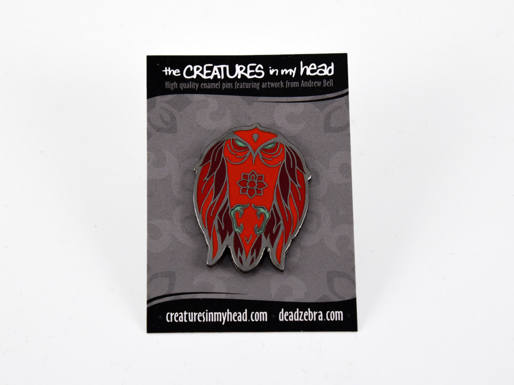 Red Hawk Enamel Pin