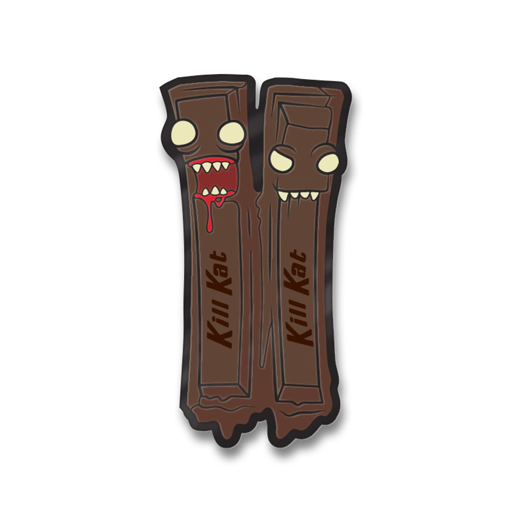 Kill Kat Dark Chocolate Enamel Pin