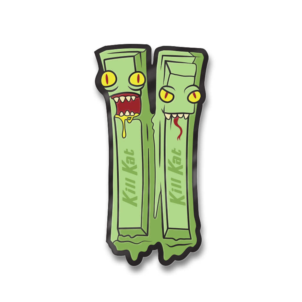 Kill Kat Green Tea Enamel Pin