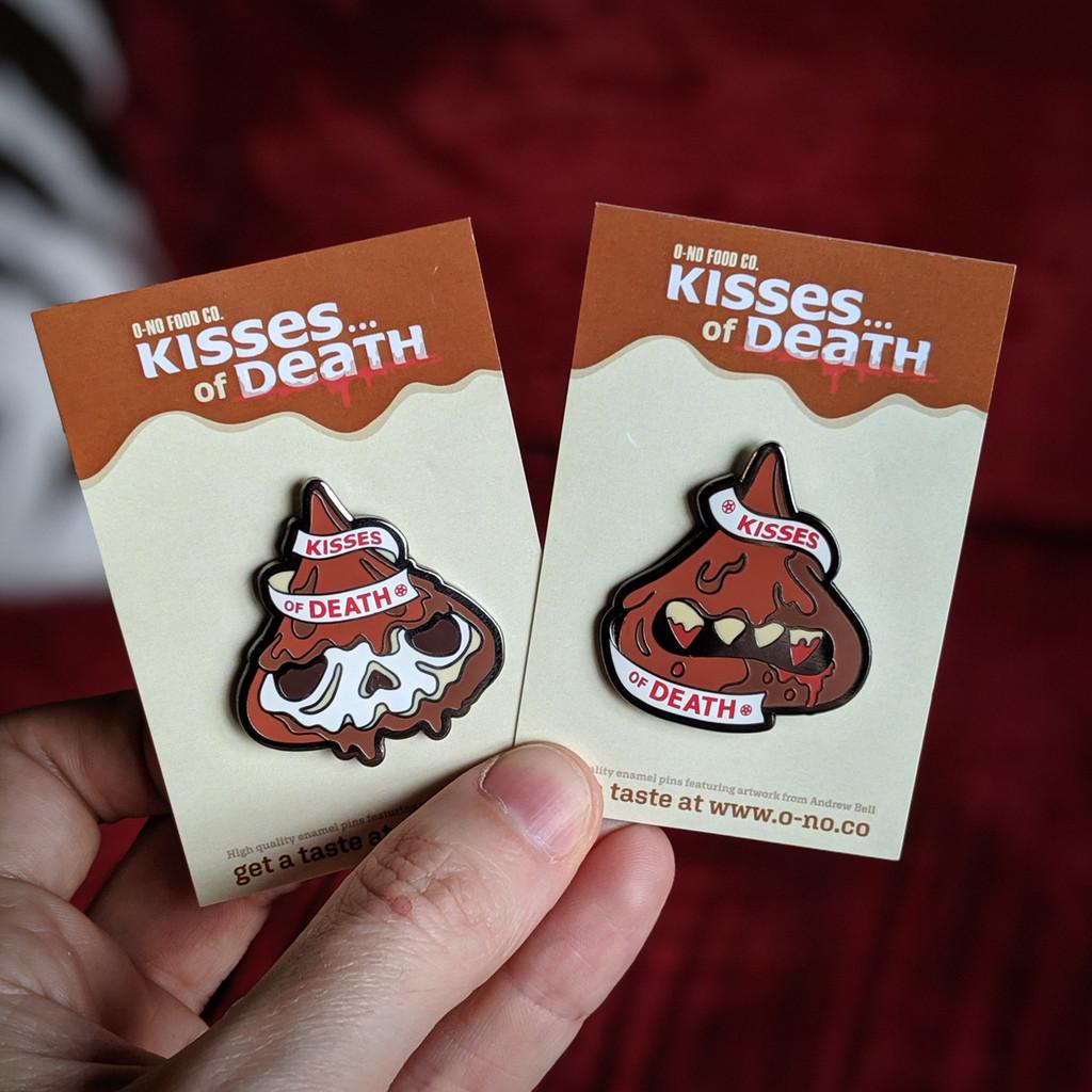 Kiss of Death Enamel Pin
