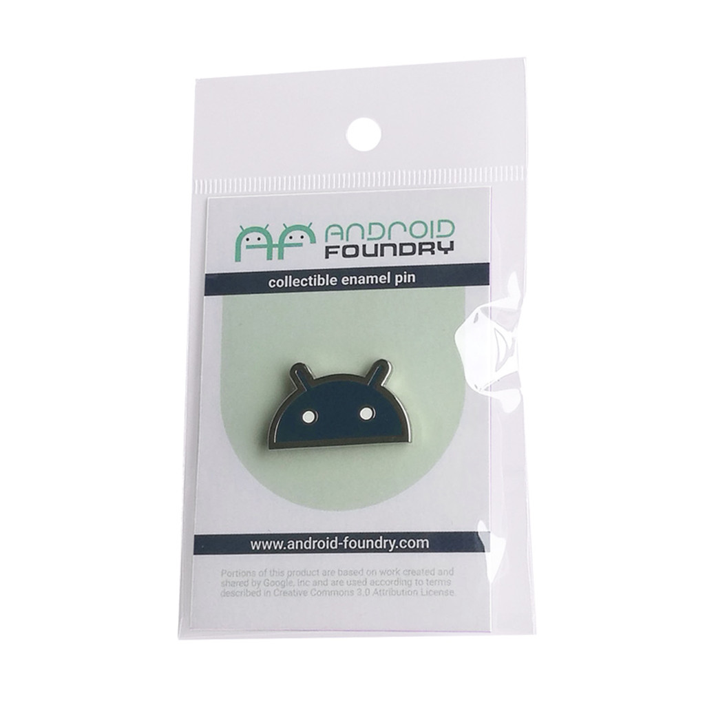 Android Head Dark Theme Pin