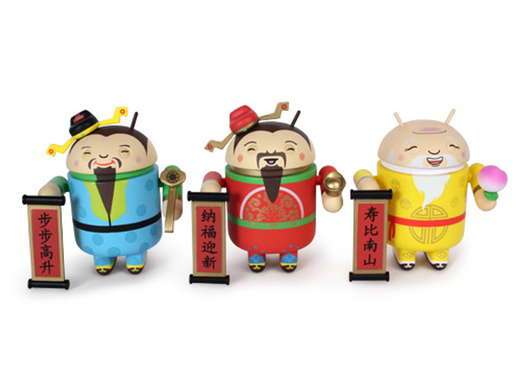 3 Gods - Fortune (祿), Blessing (福)  and Longevity (壽) Androids