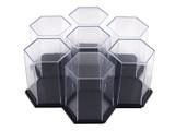 Display Case - Hexagon Black Single
