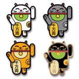 Lucky Cat Android Pin 4-Pack