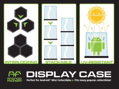 Display Case Hexagon - 3 Pack