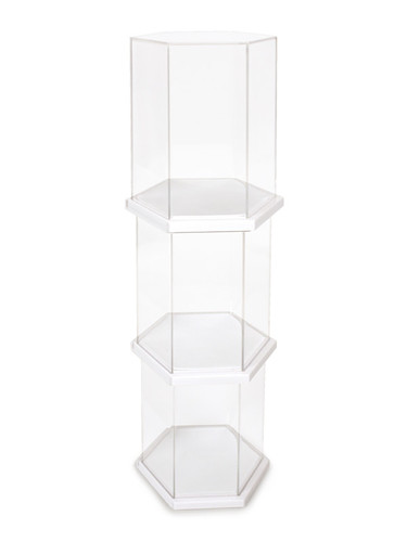 Display Case - Hexagon White Single