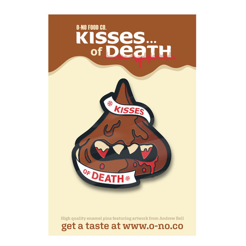 Kiss of Death Enamel Pin
