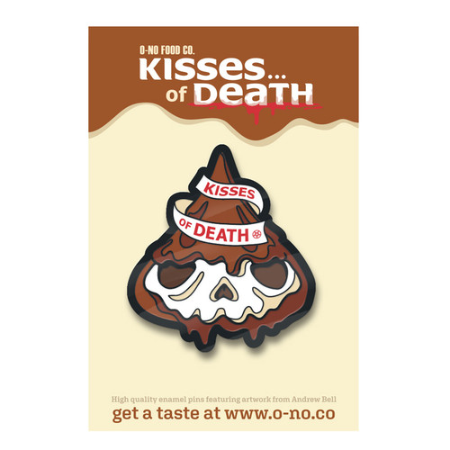 Skull Kiss of Death Enamel Pin