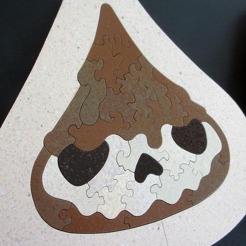 Hand-Cut Skull Kiss Baffler Puzzle