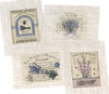 Set of 4 Small Lavender Transfers