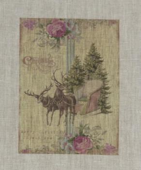 Merry Christmas 2 Reindeer and Sleigh