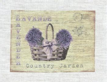 Lavender Country Garden Basket