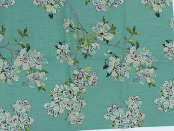 Green Background with Apple Blossoms