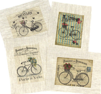 Set of 4 Small Bicycle Transfers