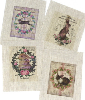 Set of 4 Small Rabbit Transfers