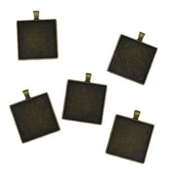5 Square Cabochan Trays