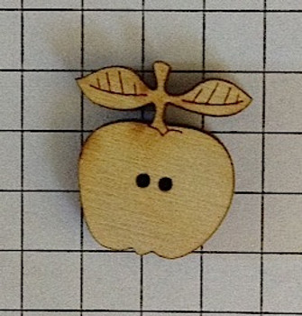 """Small apple. Each square is 1/4""""."""