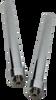 "12"" Chrome Cylinders  (Pair)"