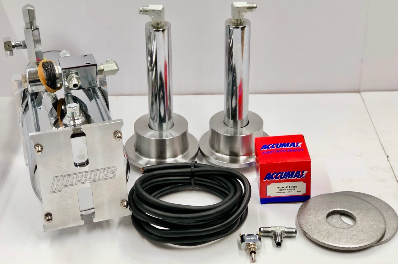 Back Hydraulic Kit w/(Chrome Cylinders & Coilover Cups)