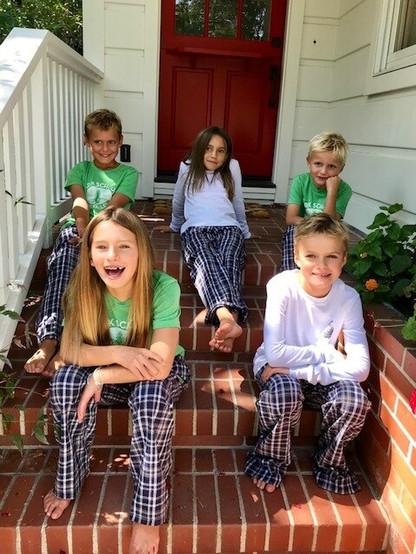 Kids Plaid Flannel Pajama Pants - Navy & White