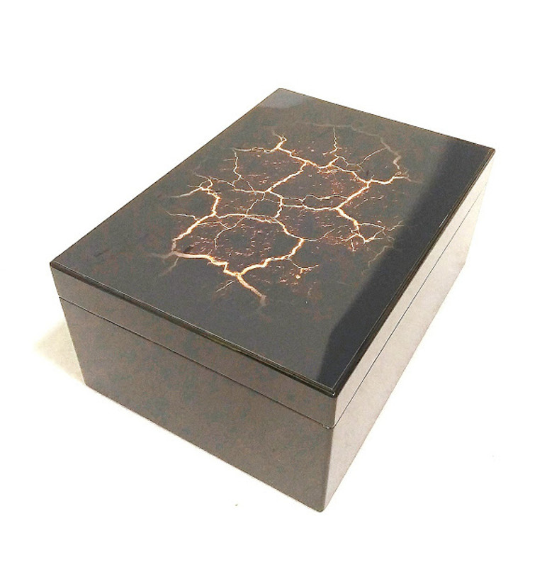 "Humidor - ""Hot Lava"" Limited Edition, 50 ct...New!"