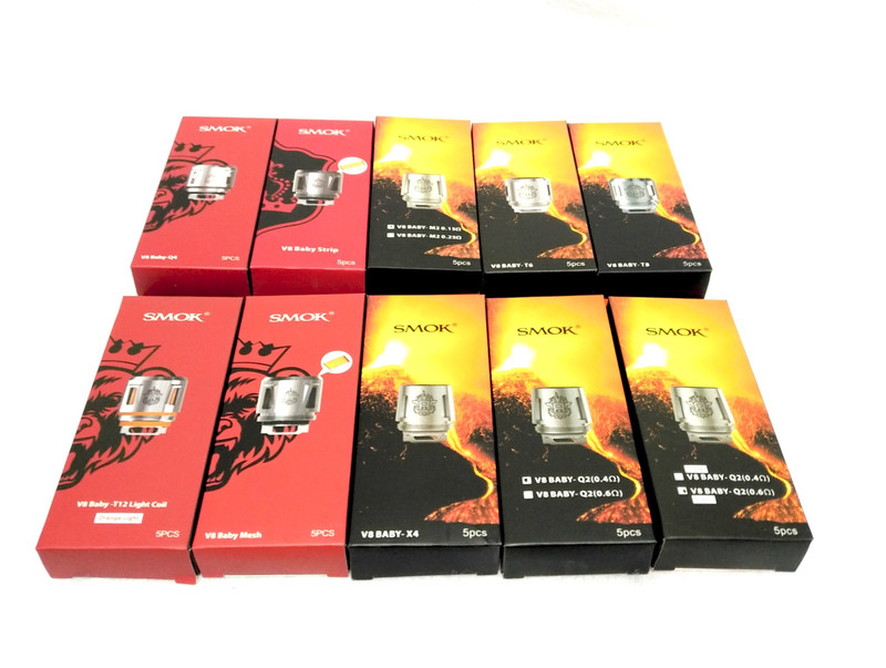 Smok TFV8 Baby Coils 5's Pack (Assorted Ohms)...Sale!