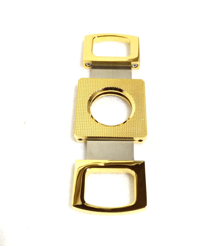 Cigar Cutter - Double Blade Gold Color...Sale!
