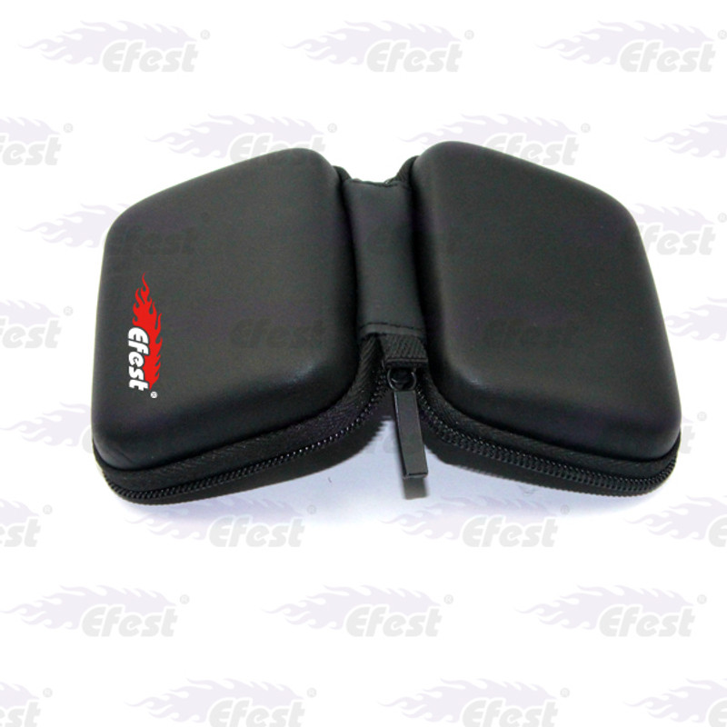 Battery Case - Black Leather, 3-6 x 18650
