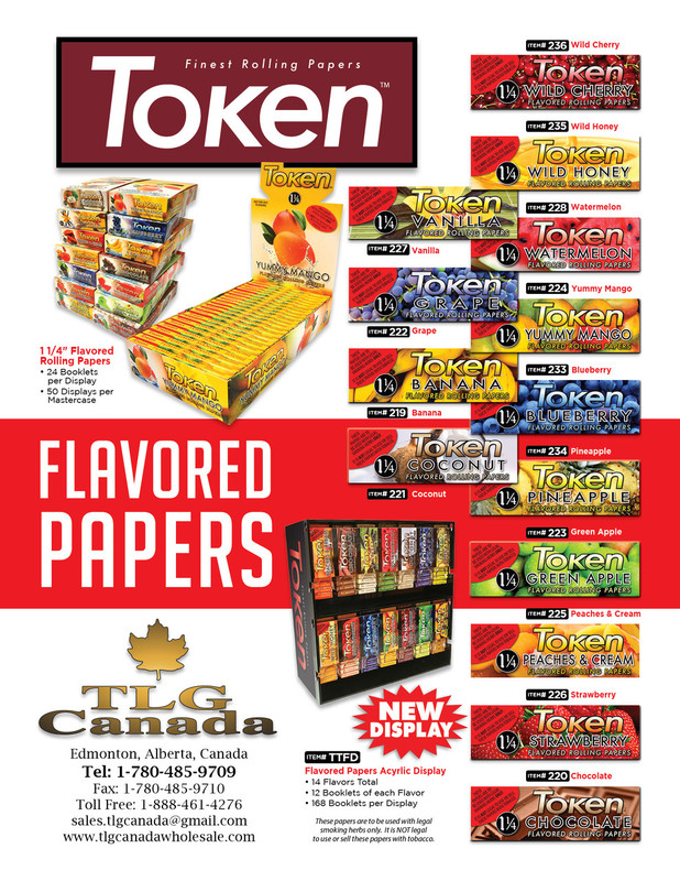 Token Flavored Cigarette Papers 24's...Sale!