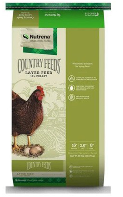 Nutrena Country Feeds Layer Feed 16% Pellets, 50 lb