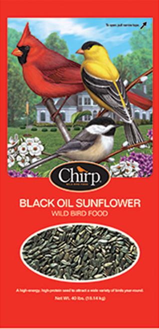 Chirp Black Oil Sunflower Seed, 40 lb