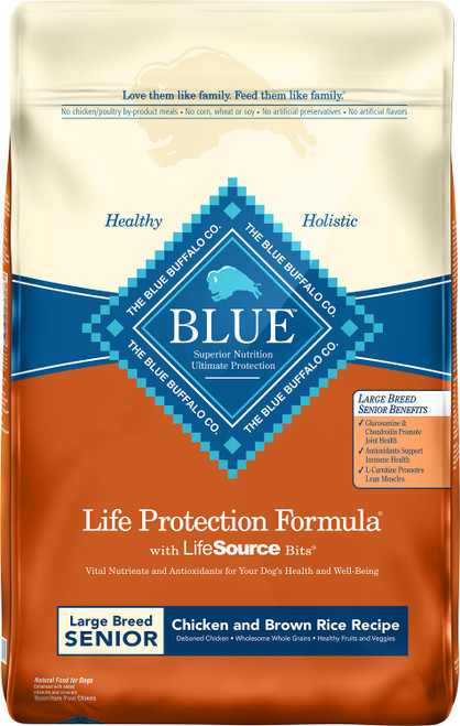 Blue Buffalo Life Protection Large Breed Natural Chicken & Brown Rice Recipe Senior Dry Dog Food