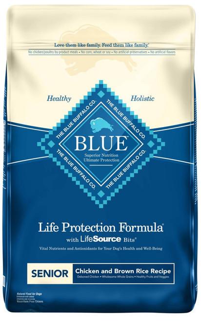 Blue Buffalo Life Protection Natural Chicken & Brown Rice Recipe Senior Dry Dog Food